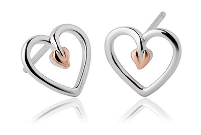 Clogau Tree of Life Heart Earrings
