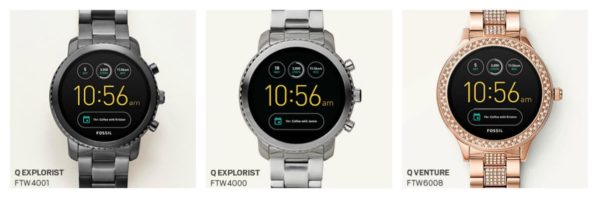 Fossil Q Smartwatch range at H.Samuel