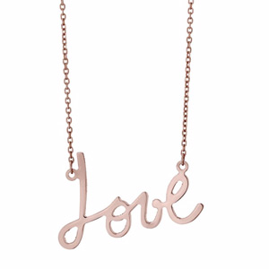 9ct Rose Gold Love Necklace