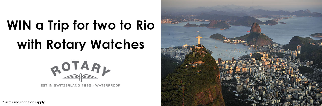 Win a Trip to Rio for 2 with Rotary Watches