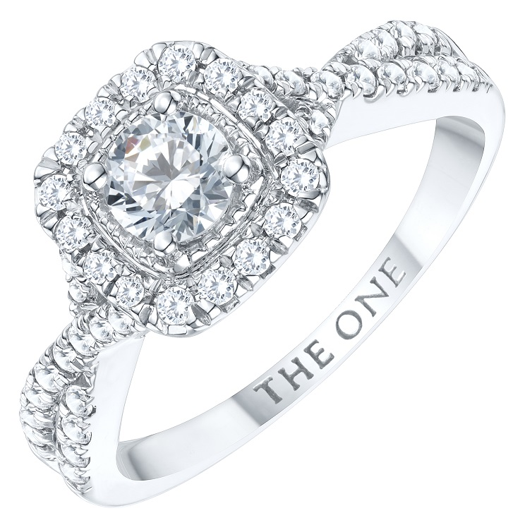 Shop The One - Diamond Halo Solitaire Rings