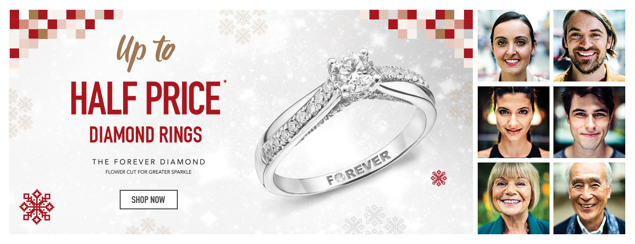 up to half price Diamond rings - Shop now