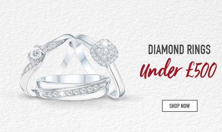 Diamonds Rings Under £500 - Shop now