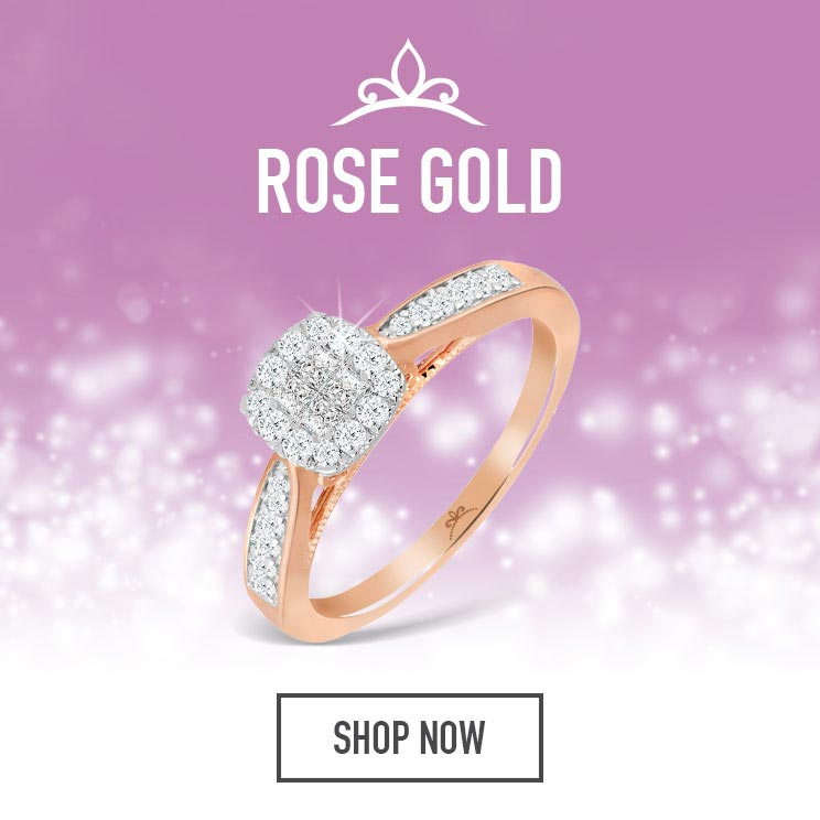 Rose Gold Princessa Diamond Rings - Shop Now