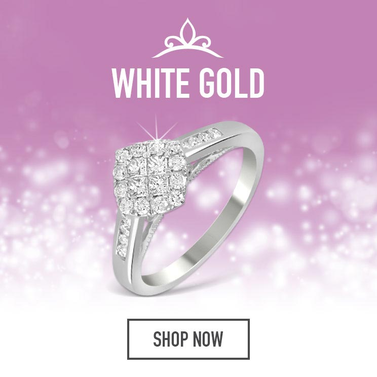 White Gold Princessa Diamond Rings - Shop Now