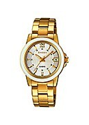 Casio Sheen Ladies' Ceramic Gold-Plated Bracelet Watch