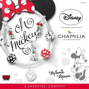 Chamilia Disney Mickey & Friends Collection at H.Samuel