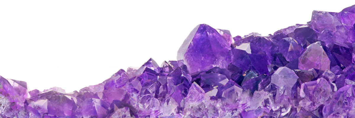 Raw amethyst gemstones