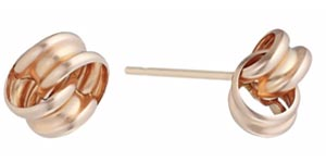9ct Rose Gold Twist Knot Stud Earrings