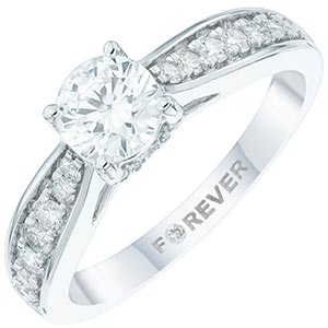 18ct White Gold 1 Carat Forever Diamond Ring