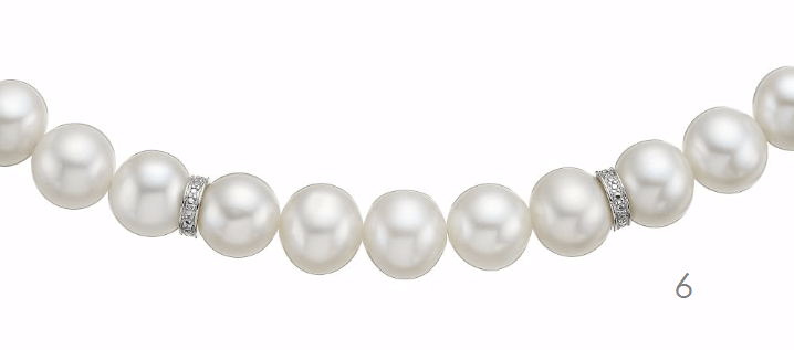 Certified Pearl & Diamond Necklace
