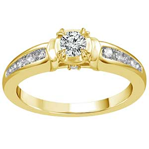 9ct Gold 2/5 Carat Diamond Solitaire Ring