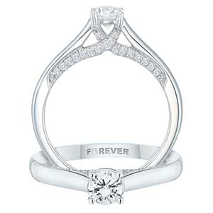 18ct White Gold 1/2ct Forever Diamond Ring