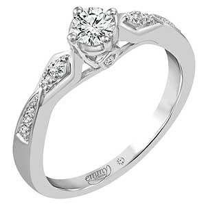 Emmy London Platinum 1/3ct Diamond Solitaire Ring