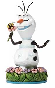 Disney Traditions Frozen Olaf With Flower Figurine