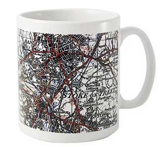 1945 - 1948 New Popular Edition Map Mug