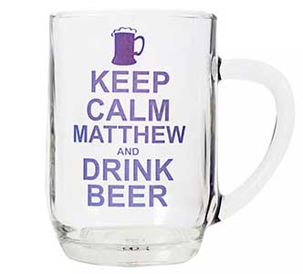 Personalised Keep Calm Pint Tankard