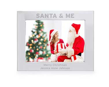 Engraved Santa & Me 5x7 Landscape Photo Frame