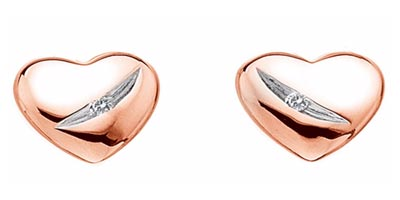 Hot Diamonds Shooting Stars Rose-Gold Plated Stud Earrings