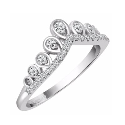 Emmy London Platinum 1/5 Carat Diamond Ring