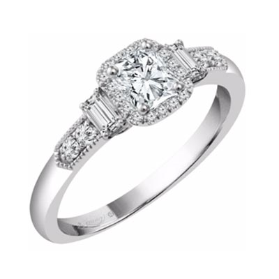 Emmy London platinum half-carat diamond solitaire ring