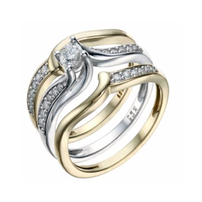 Engagement Rings- and different styles- 3 in a row