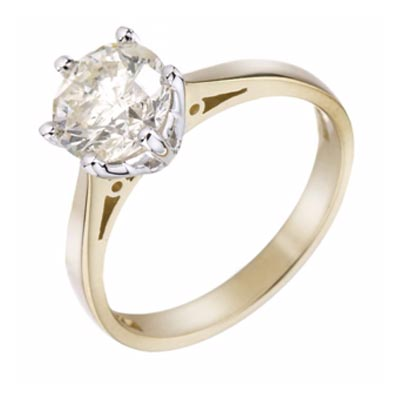 18ct Yellow Gold 1.5 Carat Diamond Solitaire Ring