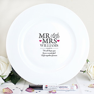 Personalised Mr & Mrs Message Plate
