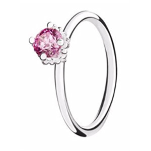 Chamilia Pink Swarovski ZirconiaDiva Stacking Ring Medium