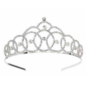 Mikey Bridal Large Crystal Tiara
