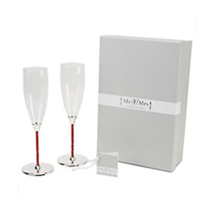 Special Memories Ruby Crystal Stem Flutes