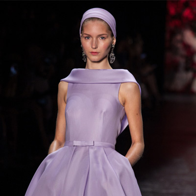 Purple Dress on the Catwalk