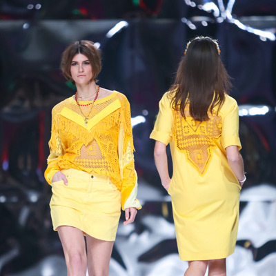Yellow Dress on the Catwalk