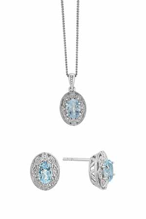 Blue Topaz Necklaces and Earrings
