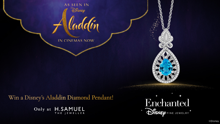 Win A Disney's Aladdin Diamond Pendant - Enter Now