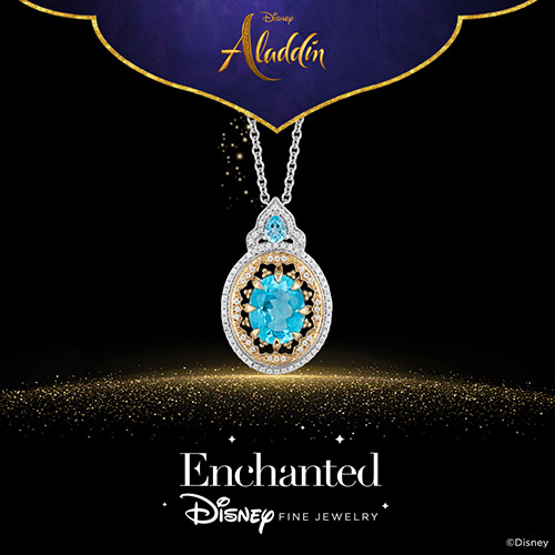 Enchanted Disney Fine Jewelry Diamond Aladdin Pendant - Shop Now