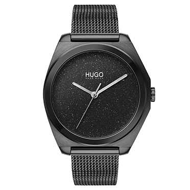 HUGO Imagine Ladies' Black IP Mesh Bracelet Watch - Shop now
