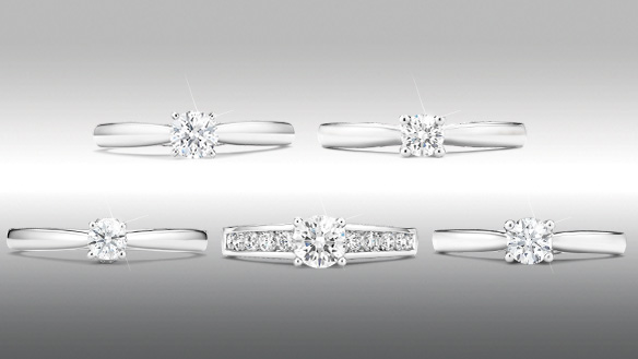 Tolkowsky Diamond Solitaires