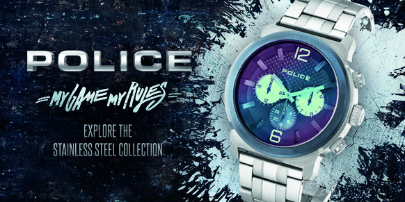 Shop Police Stainless Steel Watches