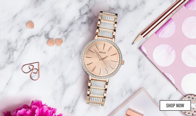 Seksy Ladies' Rose Gold Bracelet Watch - Shop Now