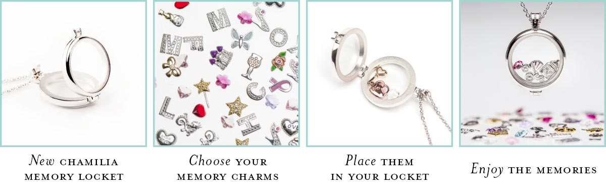 Chamilia Memory Lockets- from empty to full