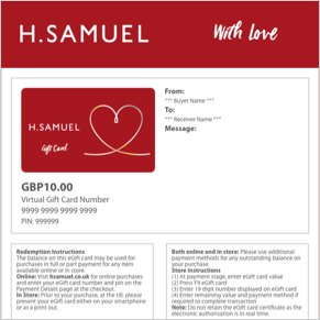 With Love eGift Cards - Shop Now