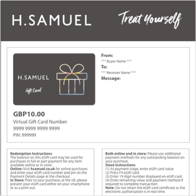 Treat Yourself eGift Card - Shop Now