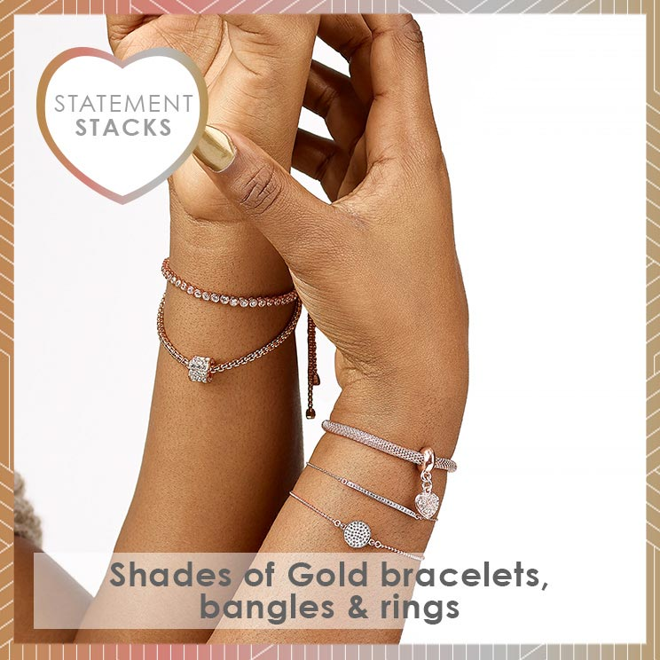 Statement Stacks - Shades of Gold Jewellery