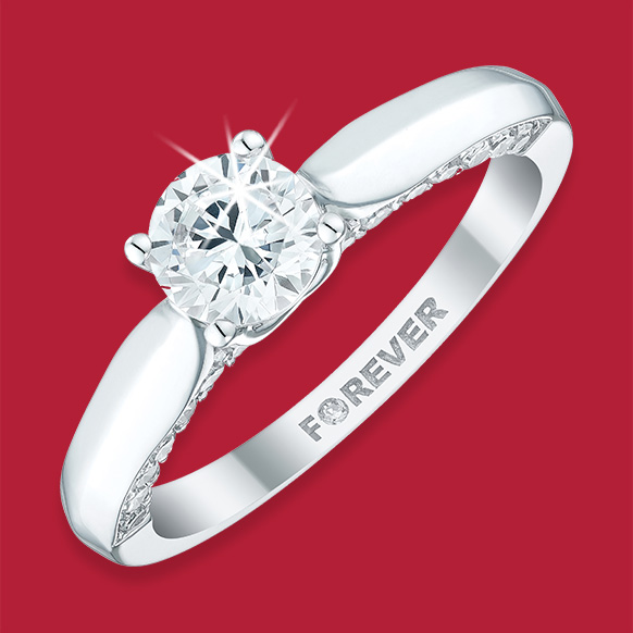 Solitaire Diamond Rings from The Forever Diamond