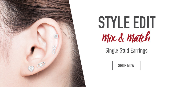 Style Edit - Mix & Match Single Stud Earrings - Shop now