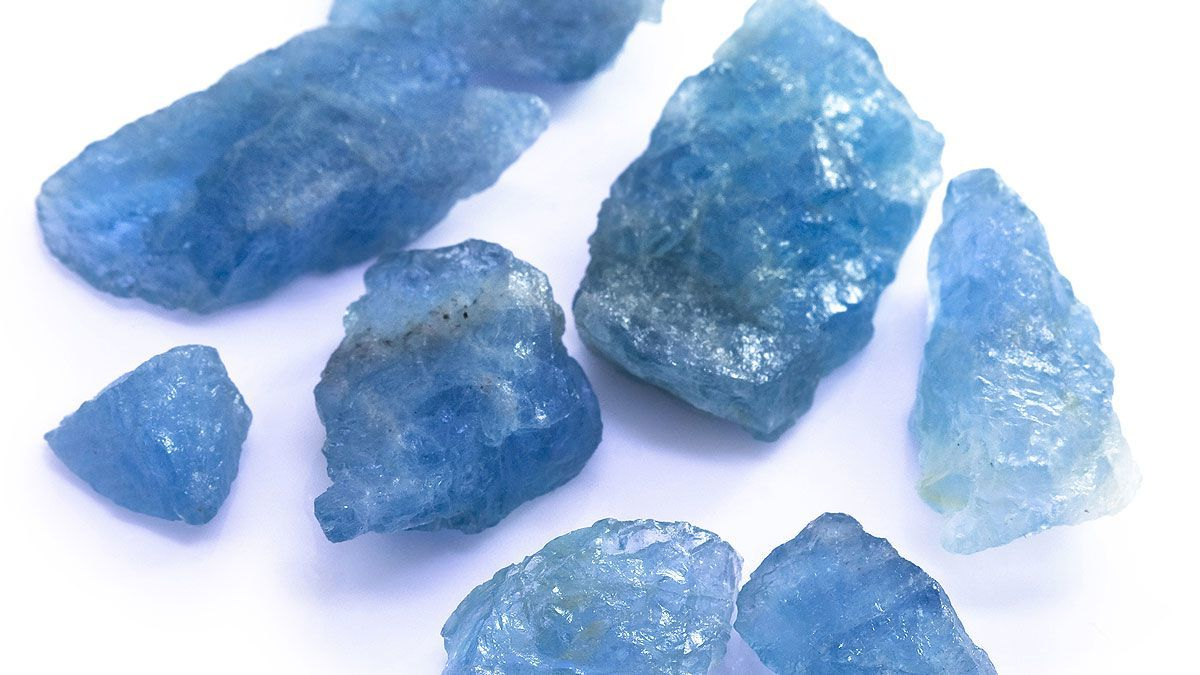 Brilliant blue gemstones