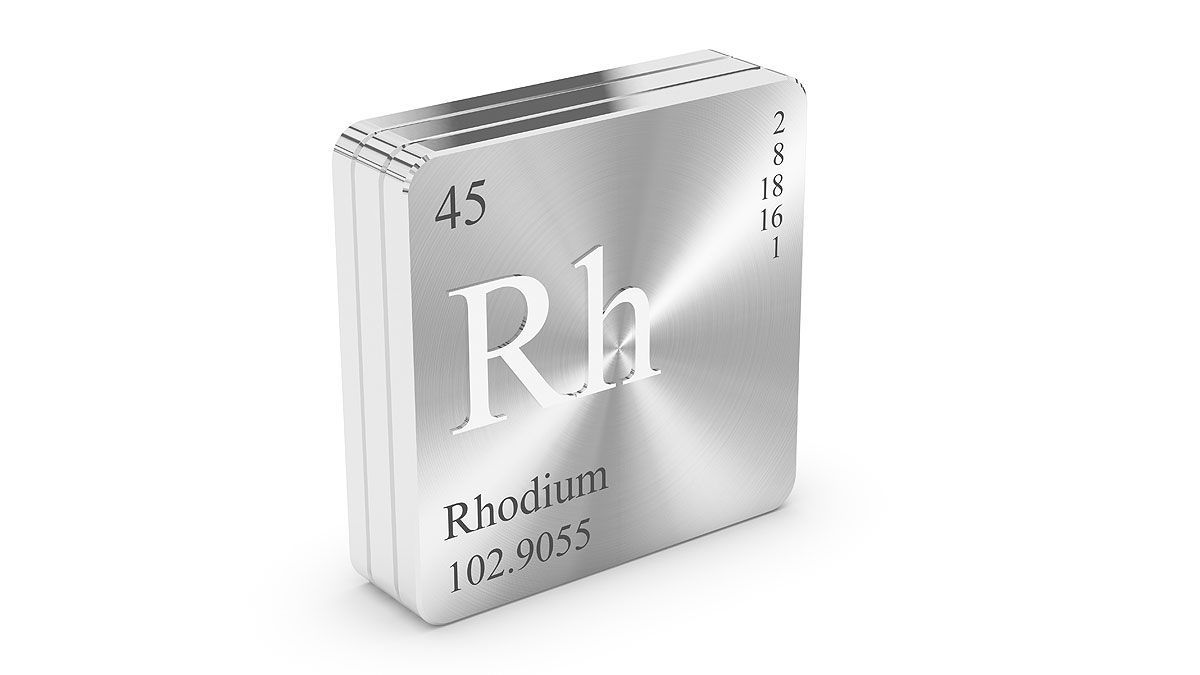 Rhodium metal guide