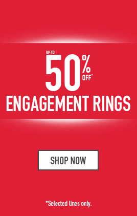 up to 50% off engagement rings - Shop now