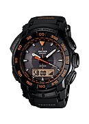 Casio Protrek Orange & Black Strap Watch